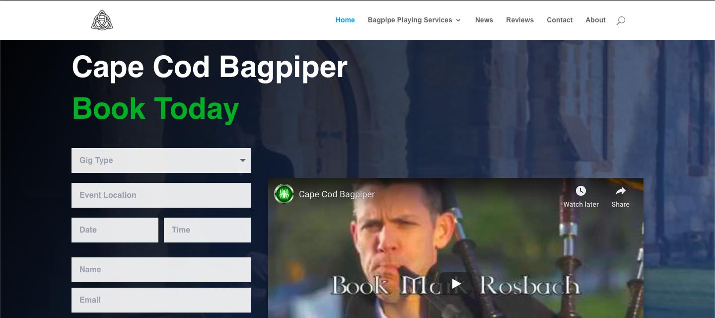 Cape Cod Bagpiper